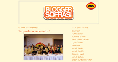 BLOGGERS TABLE